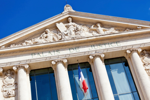 One of the most impressive buildings in neo-classical style in Nice, the Palais de Justice was built in the 1880s to house the city's law courts.