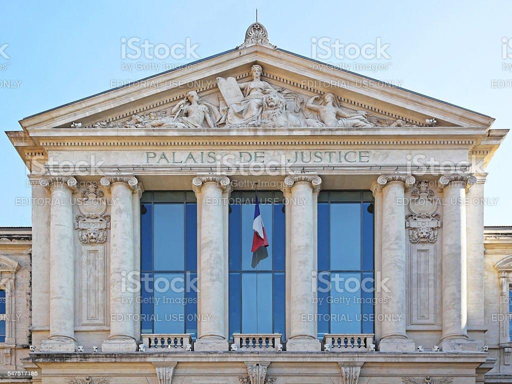 Palais de Justice Nice stock photo