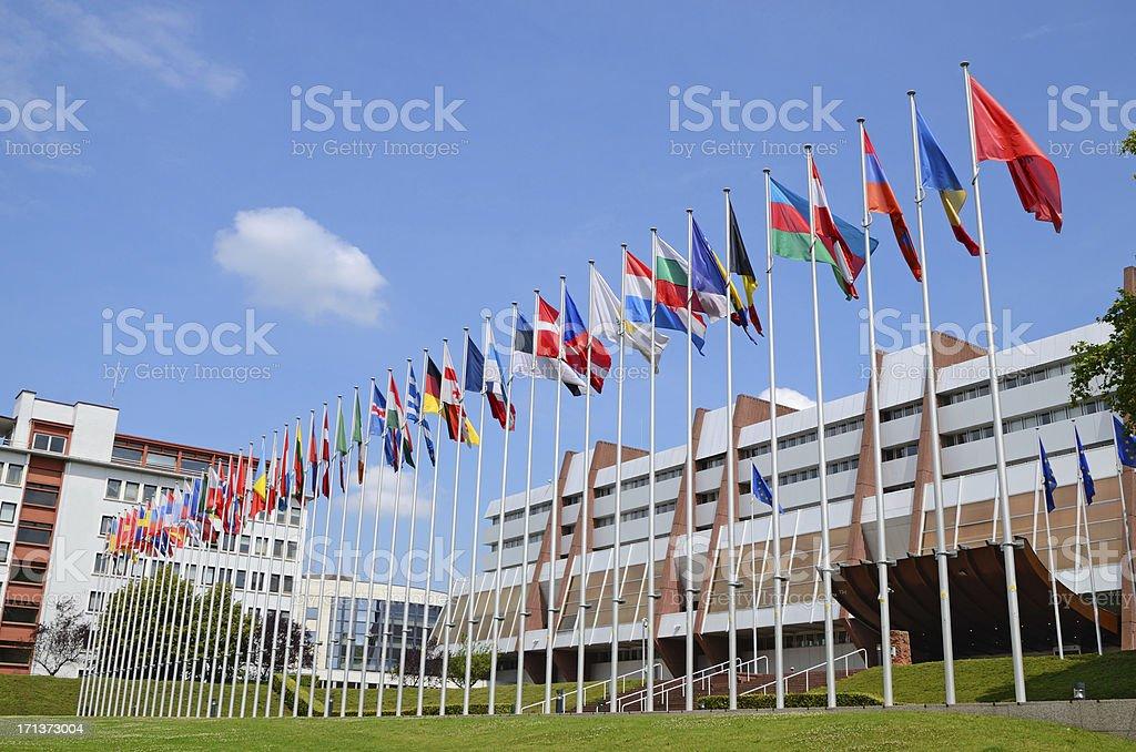 Palais de l'Europe in Strasbourg stock photo
