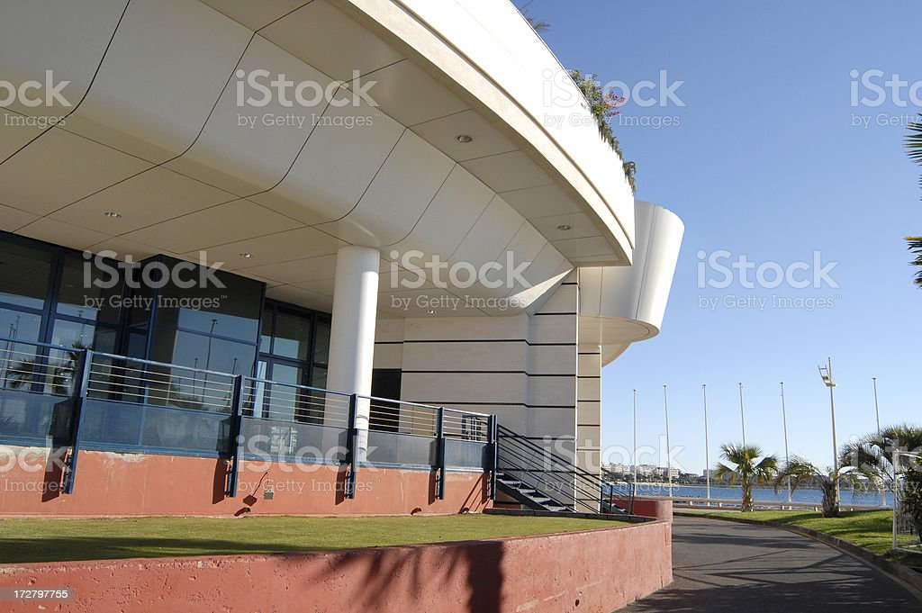 Palais des Festivals in Cannes, look from behind stock photo