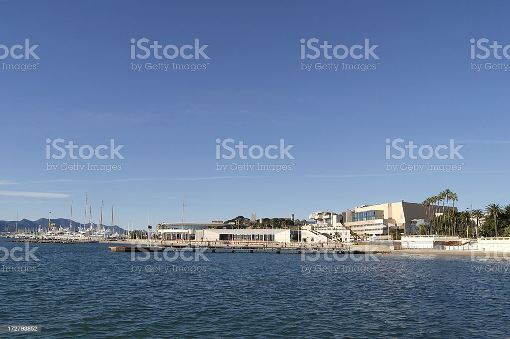 Palais des Festivals in Cannes, look from the sea stock photo