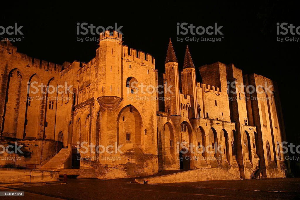 Palais des Papes  in Avignon, France royalty-free stock photo