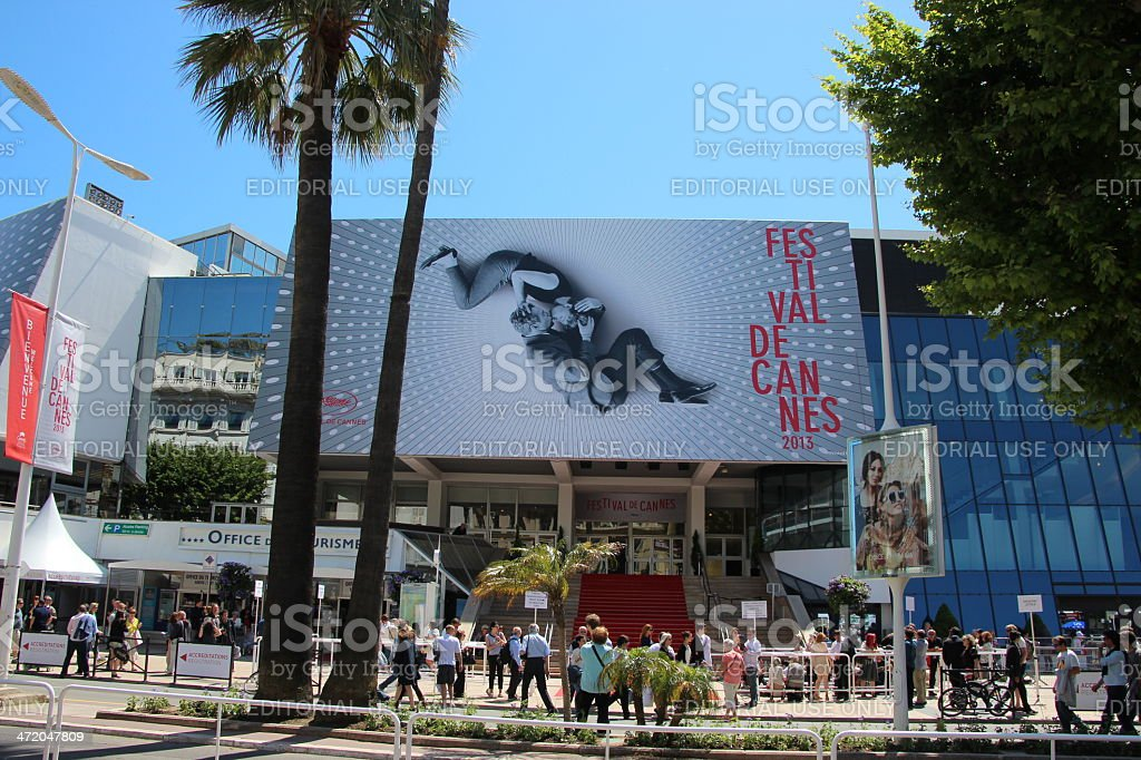 Palais du Festival de Cannes 2013 stock photo