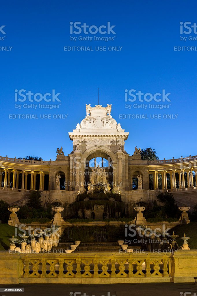 Palais Longchamp in Marseilles in France stock photo