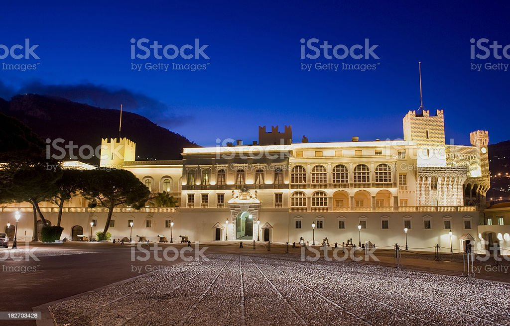 Palais Princier Royal Palace in Monaco Monte Carlo royalty-free stock photo