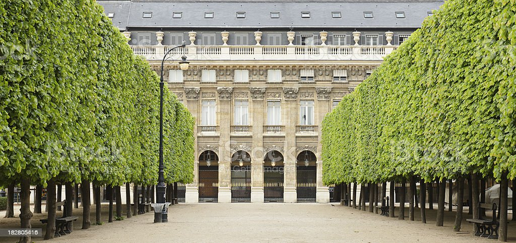 Palais Royal Gardens royalty-free stock photo
