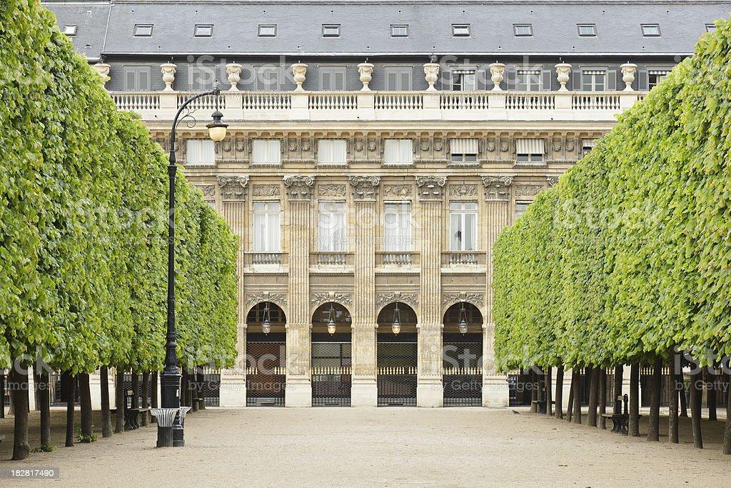 Palais Royal Gardens royalty-free stock photo