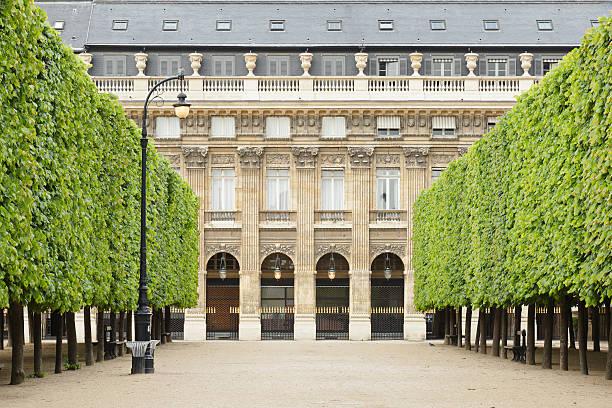 Palais Royal Gardens stock photo