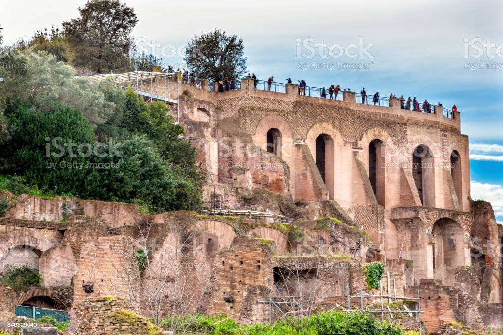 Palantine Hill Roman Forum Rome Italy stock photo