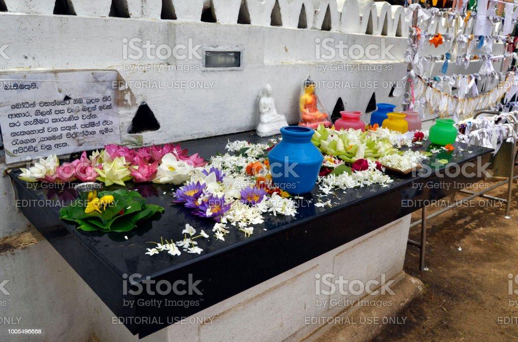 Complejo palaciego de Sri Dalada Maligawa, el templo del diente sagrado - foto de stock
