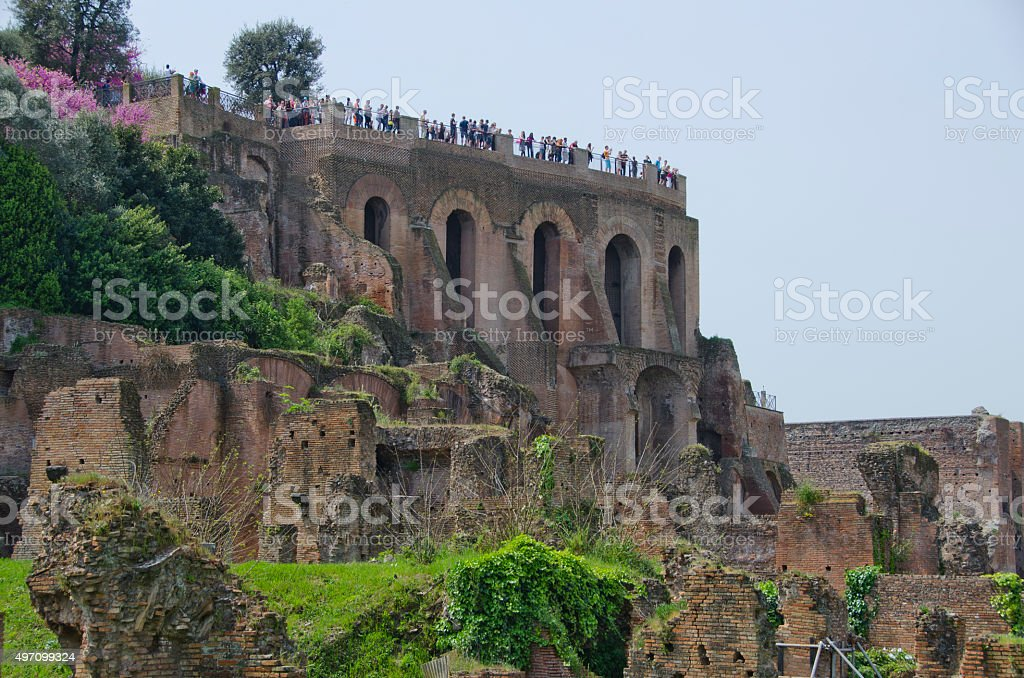 Palatine Hill in Spring stock photo