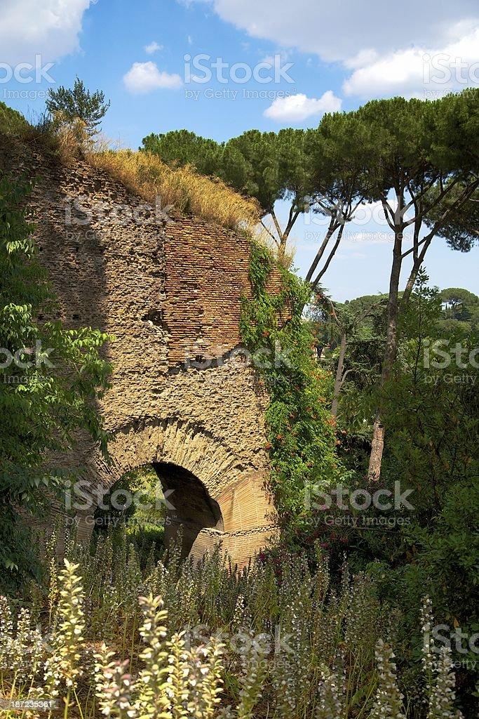 Palatine hill, Rome royalty-free stock photo