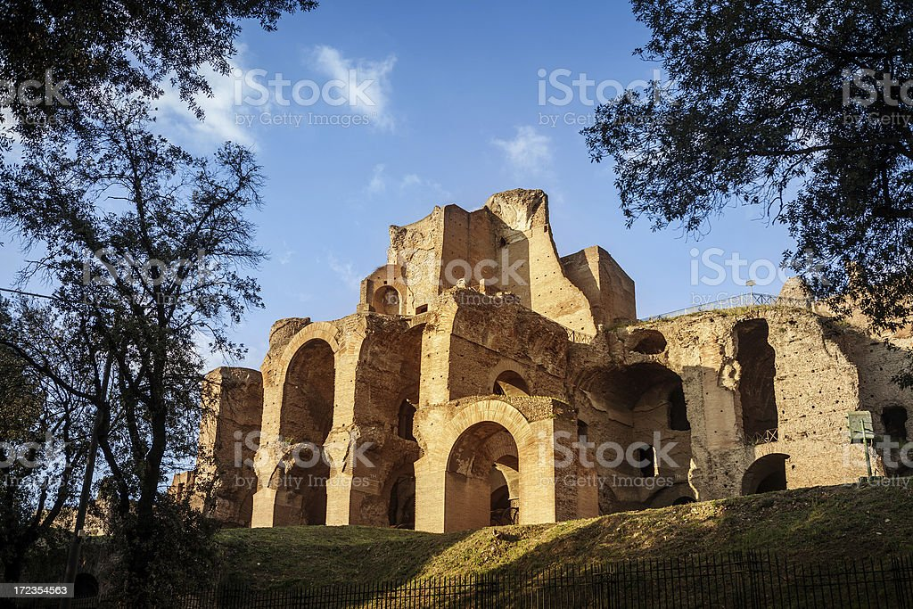 Palatine Hill Ruins royalty-free stock photo