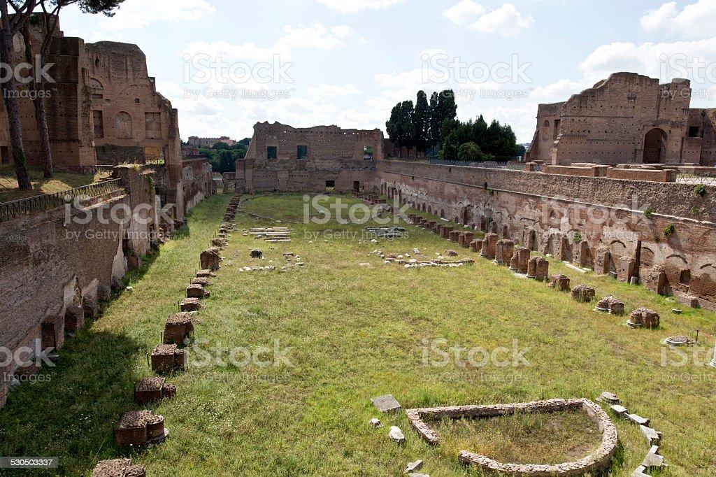 Palatine Hill Ruins stock photo