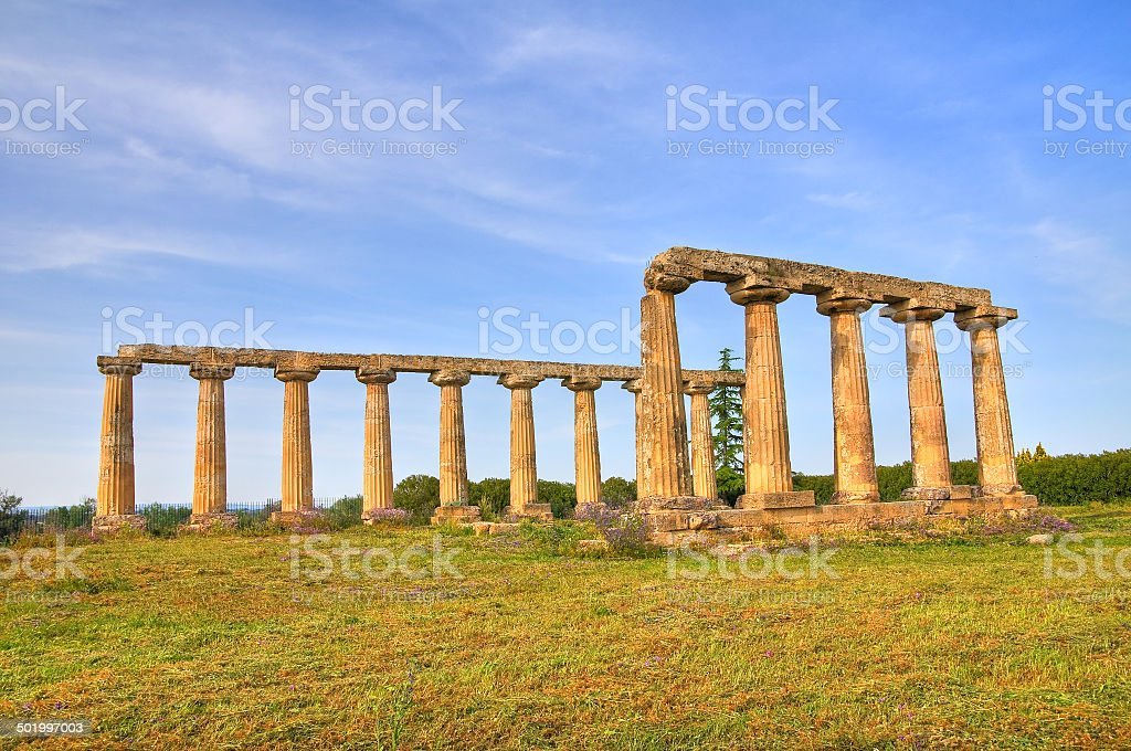 Tavole Palatine. Metaponto. Basilicata. Italy. royalty-free stock photo