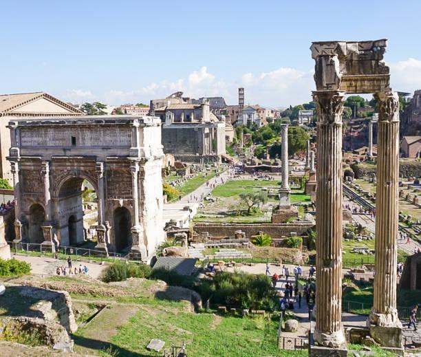 Palatino Ruins in Rome, Italy stock photo