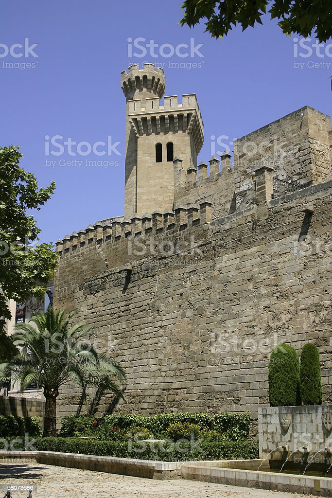 Palau de la Almudaina royalty-free stock photo