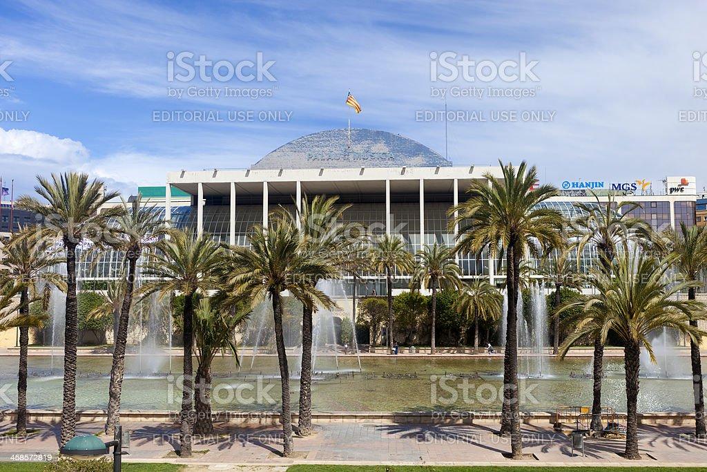 Palau de la Musica In Valencia, Spain stock photo