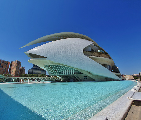 Palau de les Arts in the Ciutat de la Arts i les Ciencies, Valencia