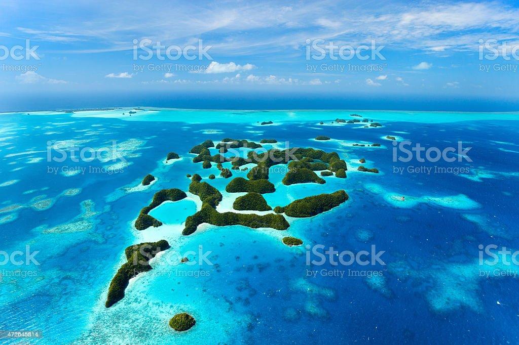 Palau-Inseln von oben – Foto