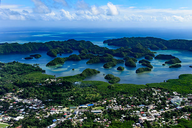 Palau Koror city area and Islands in the cove – Foto
