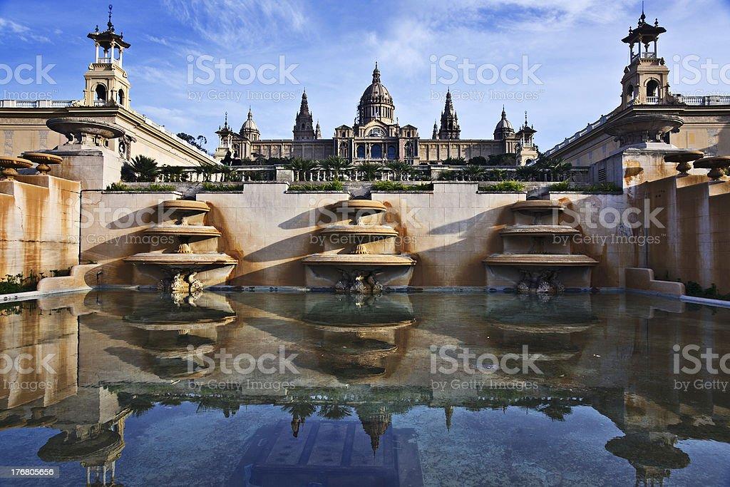 Palau Nacional, Barcelona royalty-free stock photo