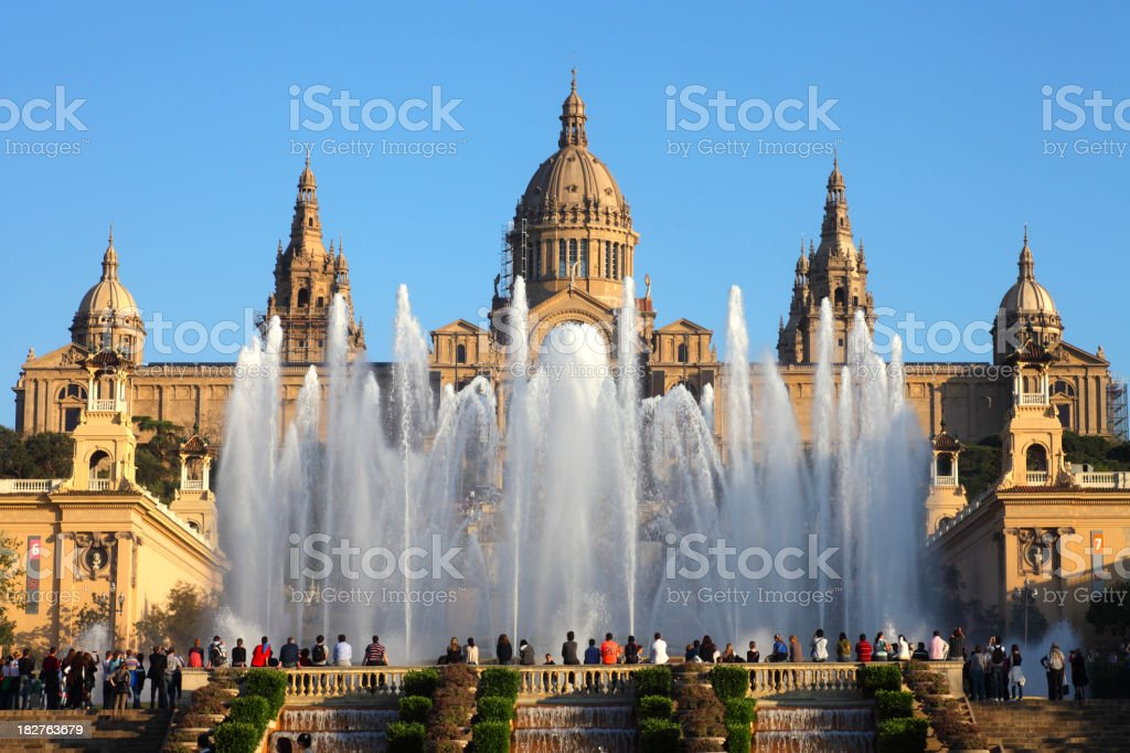 Palau Nacional royalty-free stock photo
