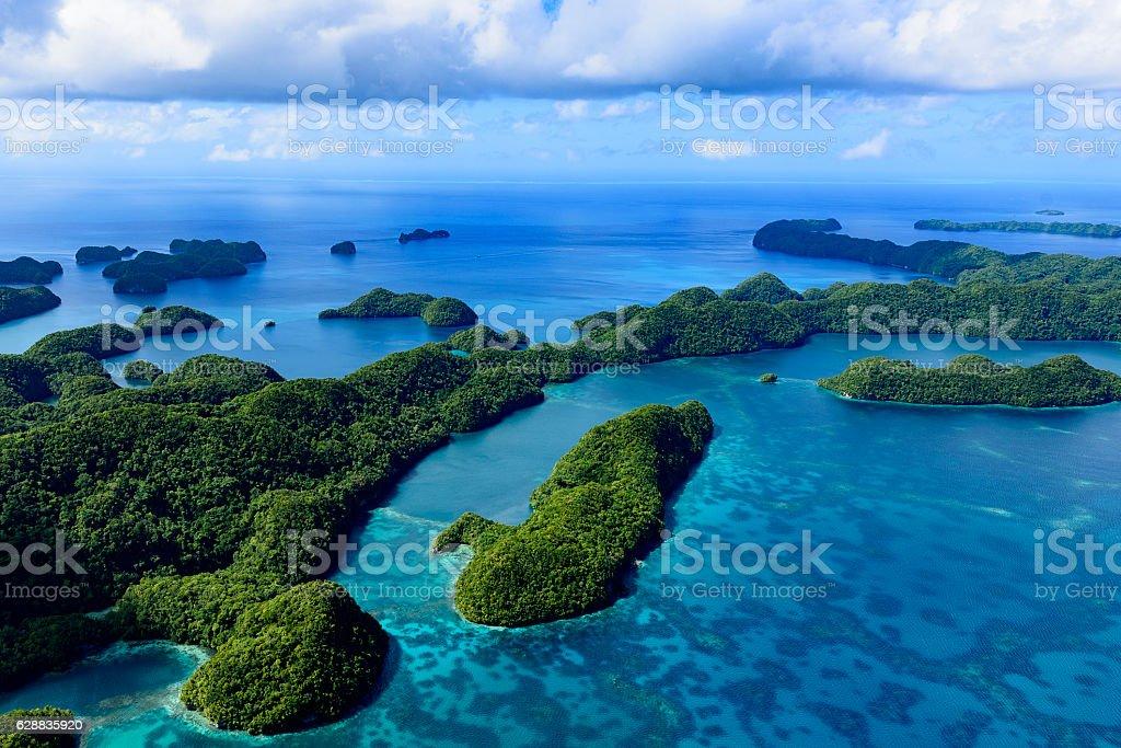 Palau Ngeruktabel Island - World heritage site - stock photo