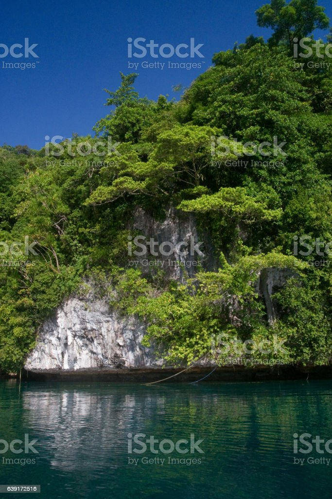 Palau rock island stock photo