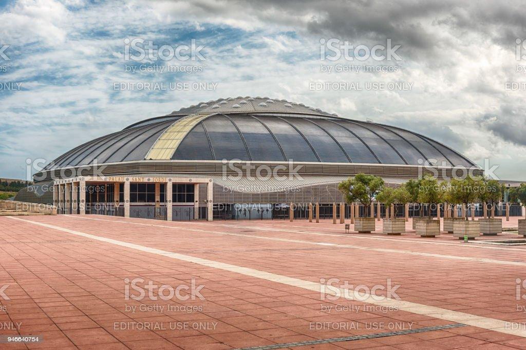 Palau Sant Jordi, sporting arena of Montjuic, Barcelona, Catalonia, Spain stock photo