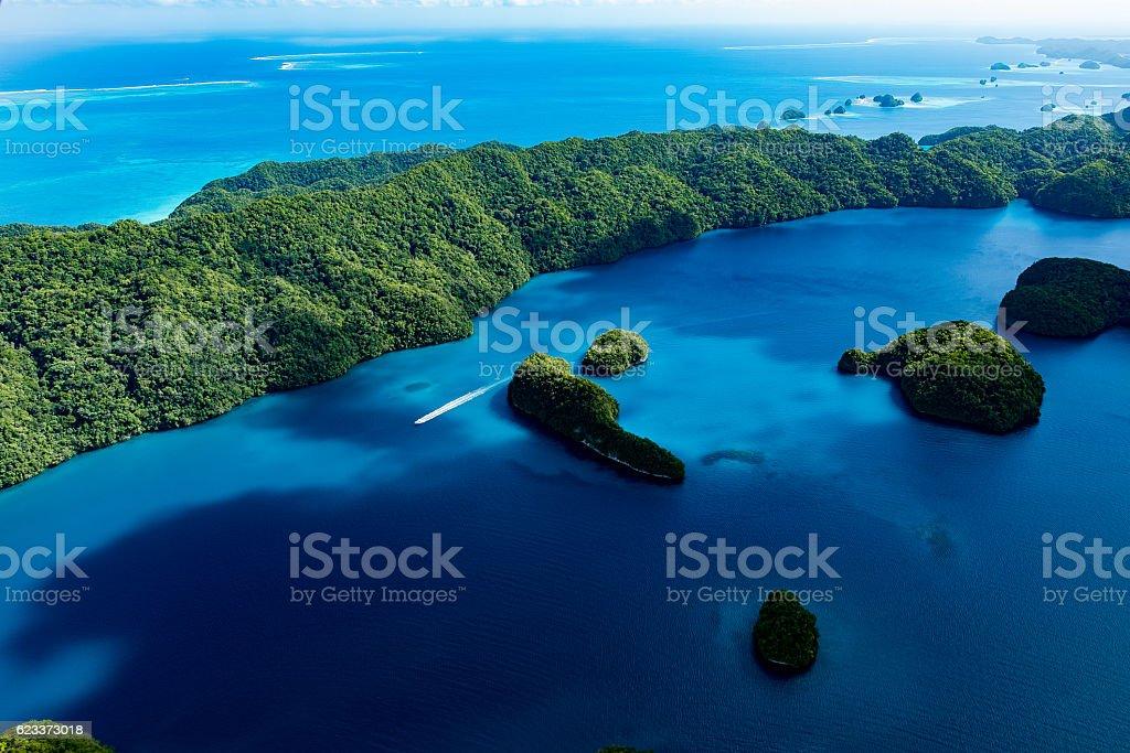 Palau World Heritage Rock Islands Southern Lagoon stock photo