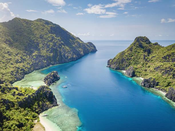 Palawan Tapiutan Strait Matinloc Island  El Nido Philippines stock photo