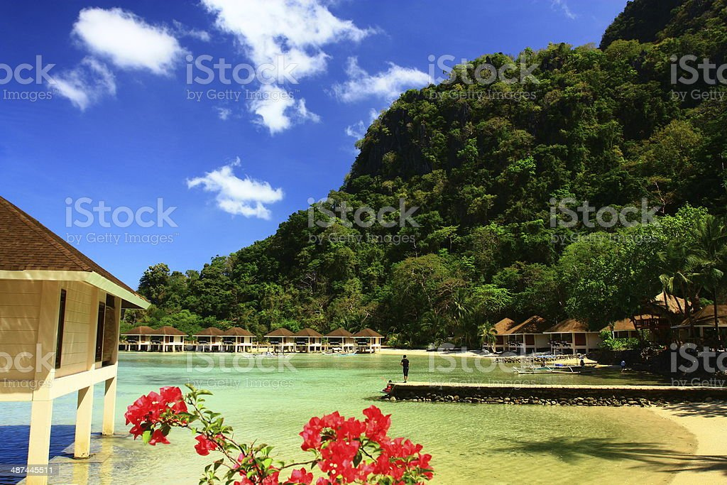 Palawan, the Philippines Beach scene on Lagen Island, El Nido. Asia Stock Photo