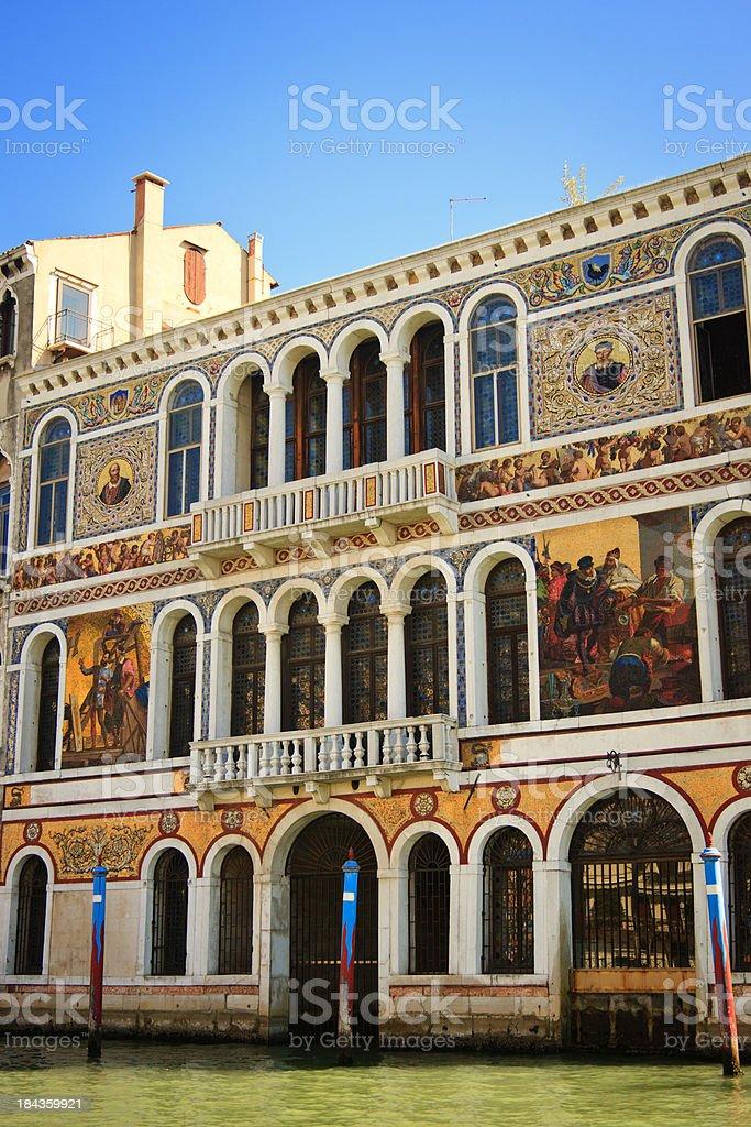 Palazzo Barbarigo, Grand Canal, Venice, Italy royalty-free stock photo