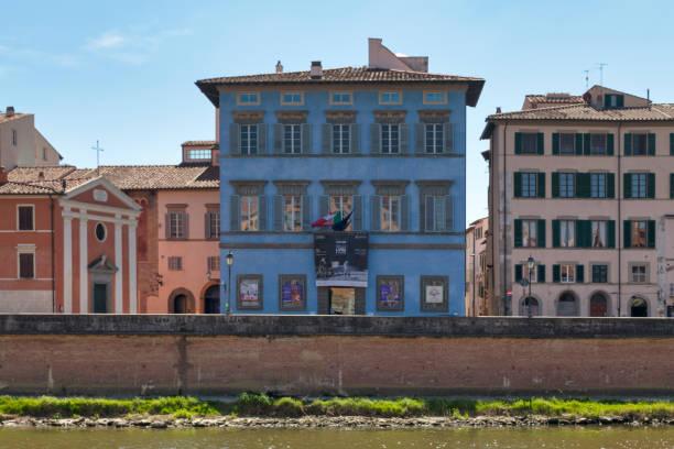 Palazzo Blu in Pisa stock photo
