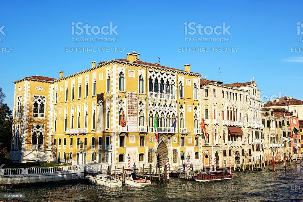 Palazzo Cavalli Franchetti, Grand Canal, Venice stock photo