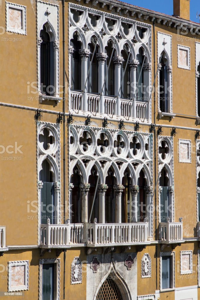 Palazzo Cavalli Franchetti in Venice stock photo