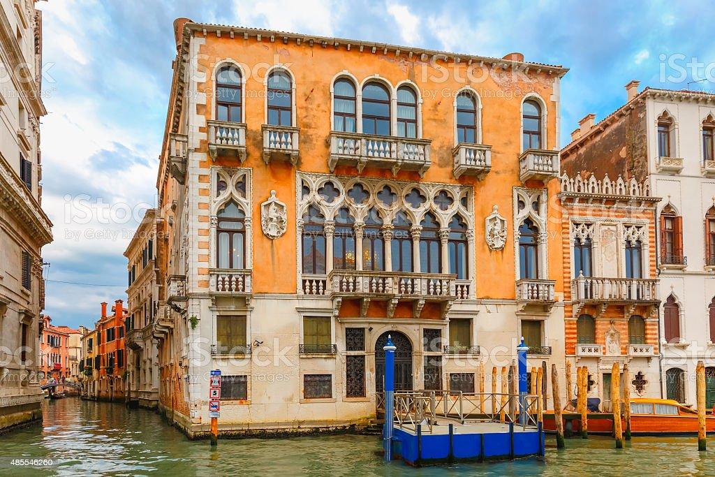 Palazzo Cavalli-Franchetti  on Grand canal, Venice stock photo