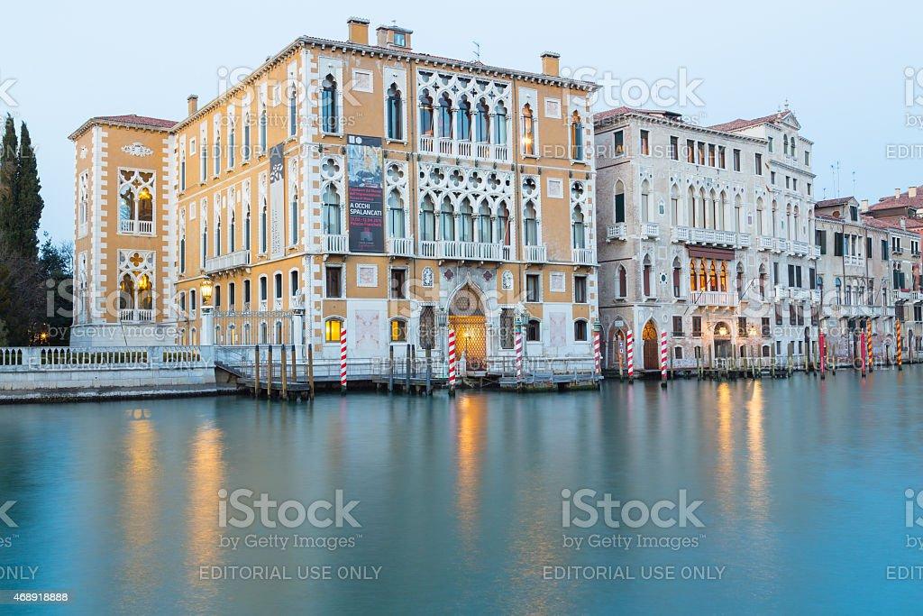 Palazzo Cavalli-Franchetti stock photo