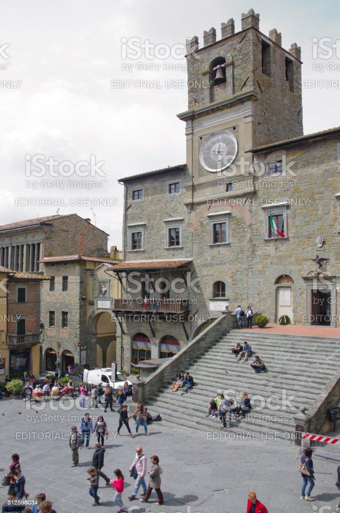 Palazzo Comunale in Piazza della Repubblica stock photo
