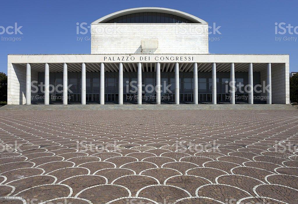 Palazzo dei Congressi in Rome stock photo
