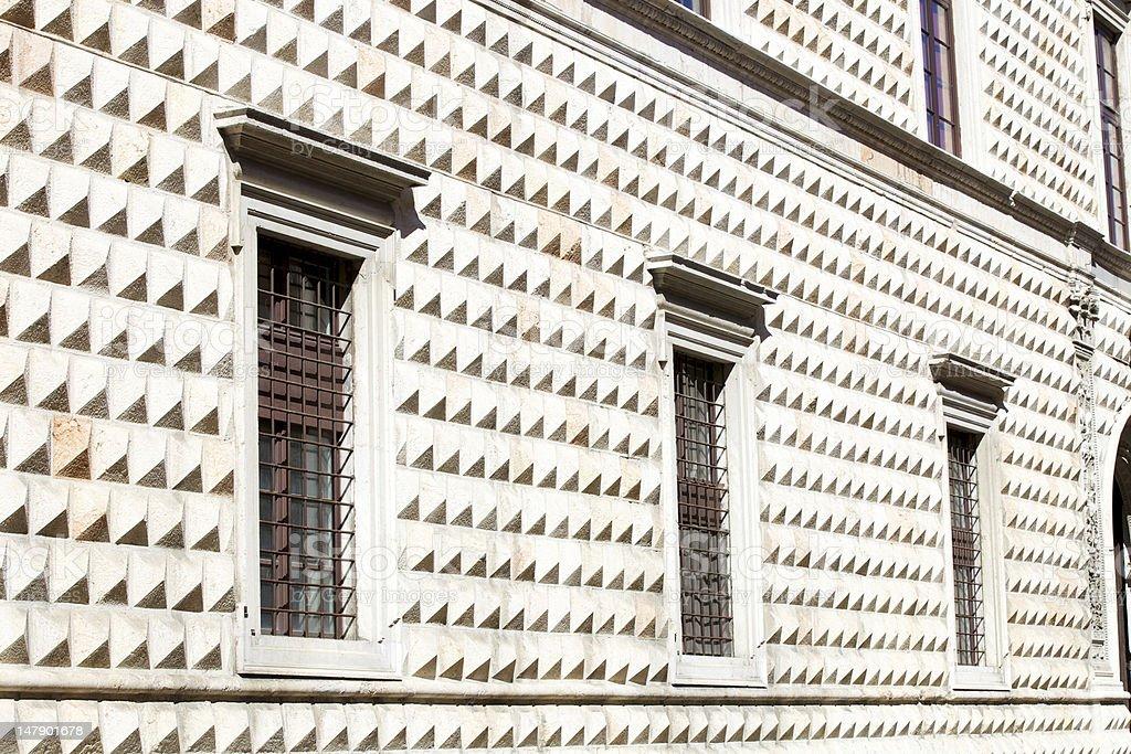 Palazzo Dei Diamanti, Ferrara royalty-free stock photo