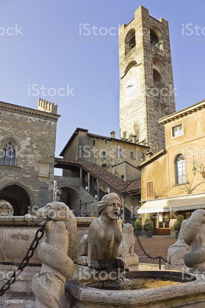 palazzo del Podesta, Bergamo, Italia - foto de stock