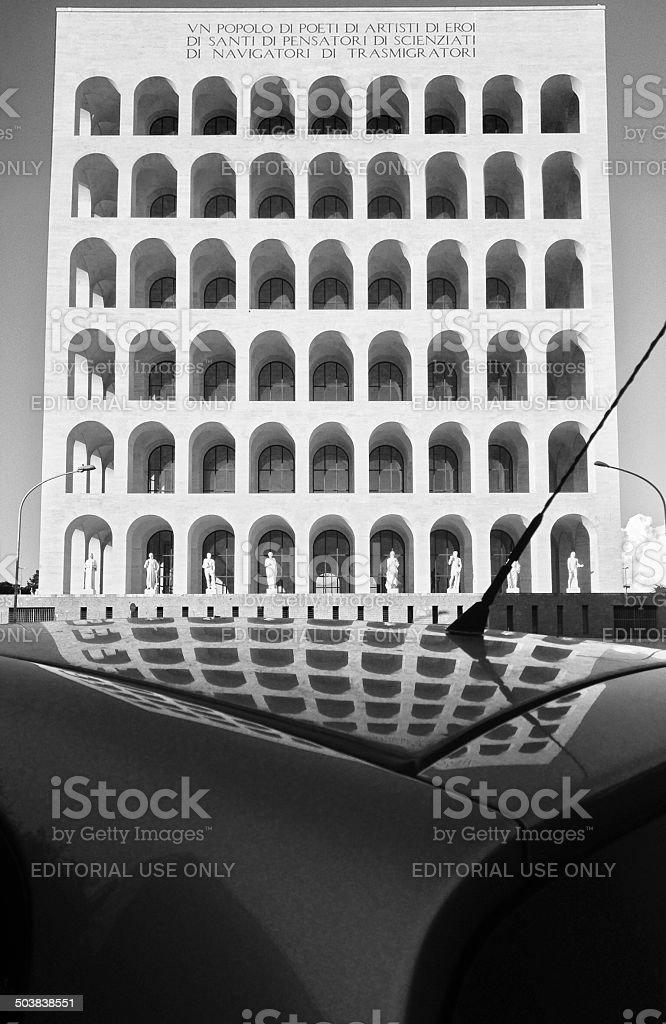 Palazzo della Civiltà Italiana royalty-free stock photo