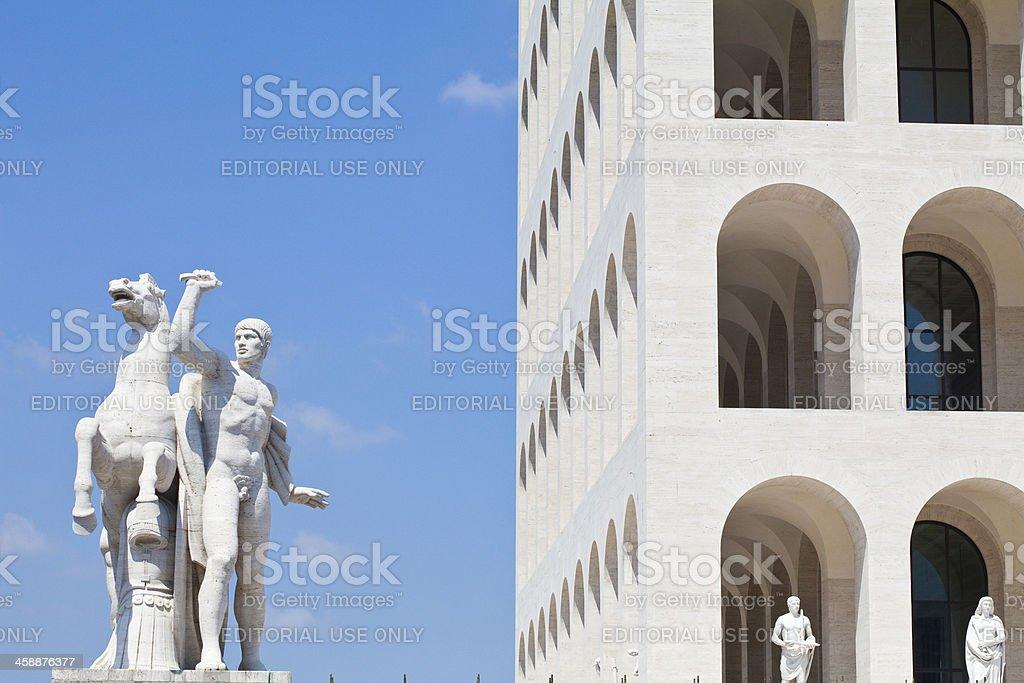 Palazzo della Civiltà Italiana, Rome stock photo