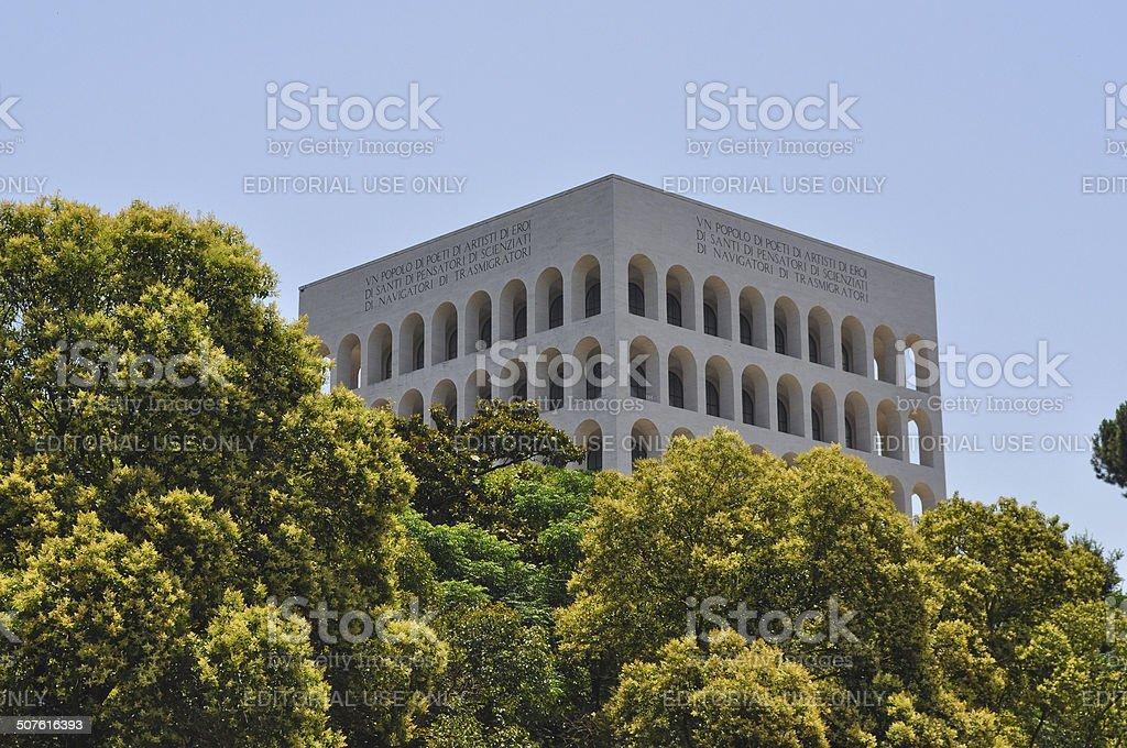 Palazzo della Civilta Italiana stock photo