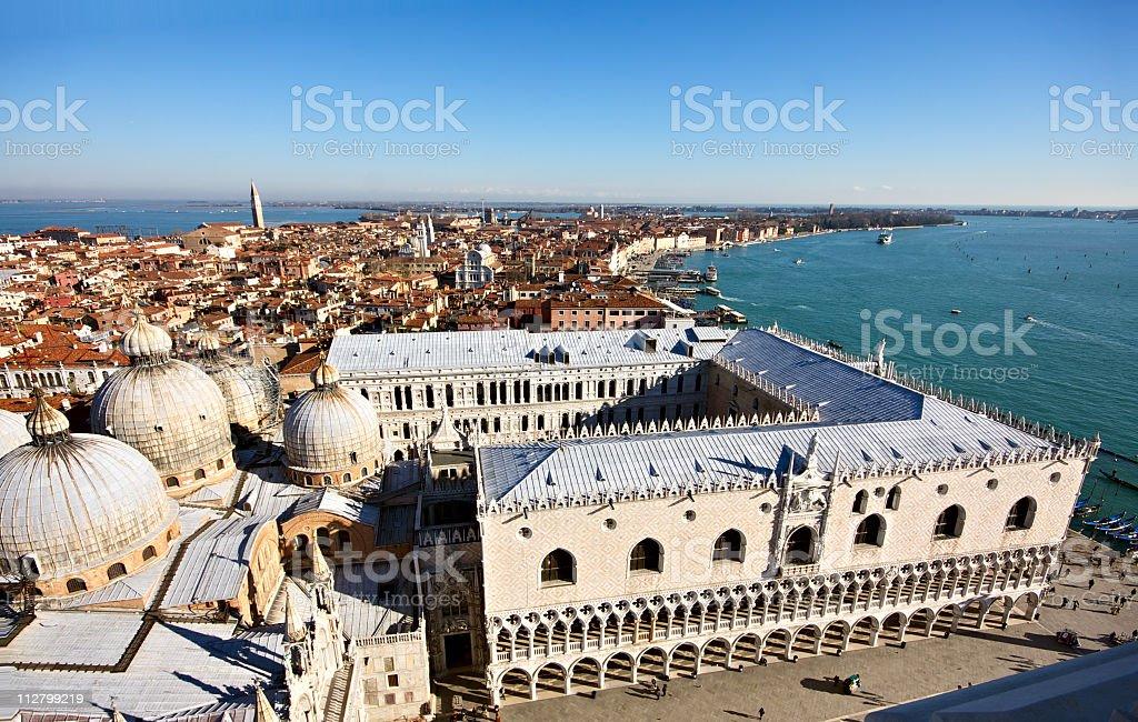 Palazzo Ducale and Riva degli Schiavoni in Venice stock photo