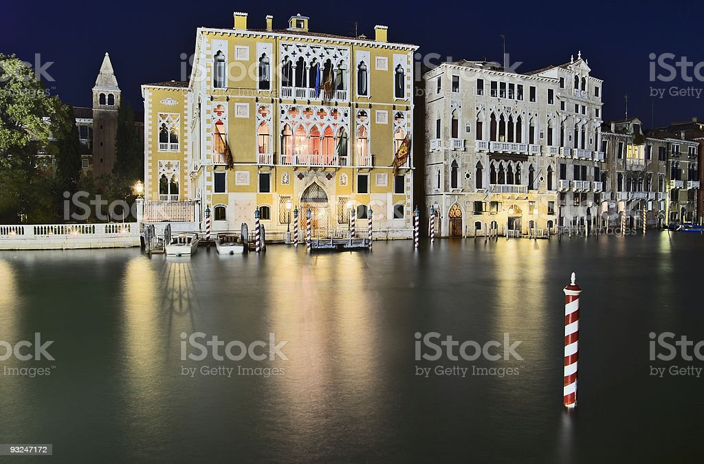 Palazzo Franchetti Cavalli and Barbaro, Venice, Italy stock photo