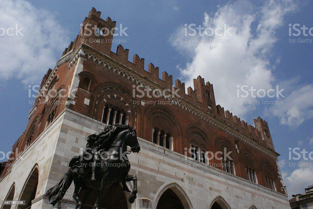 'palazzo' in siena stock photo