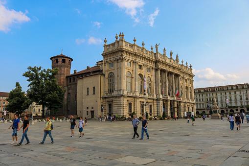 Palazzo Madama during a sunny day